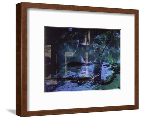 Abstract Image in Blue and Green-Daniel Root-Framed Art Print