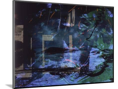 Abstract Image in Blue and Green-Daniel Root-Mounted Giclee Print