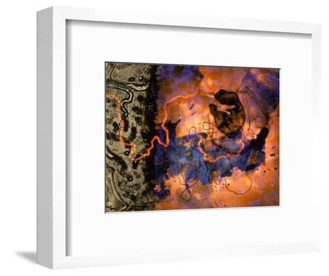 Abstract Image in Red, Blue, and Green-Daniel Root-Framed Art Print