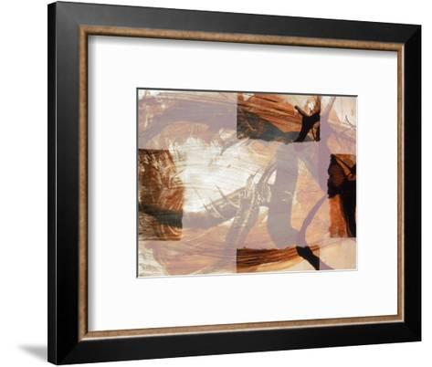 Abstract Image in Brown and White-Daniel Root-Framed Art Print