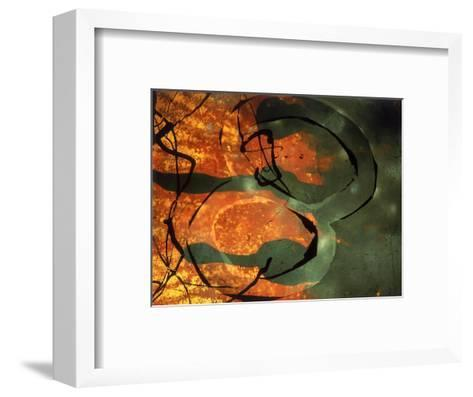Abstract Image in Yellow, Black, and Red-Daniel Root-Framed Art Print