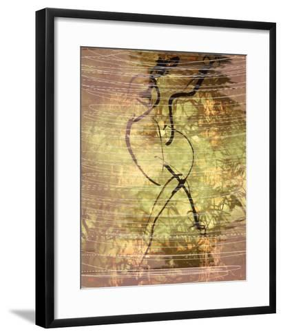 Abstract Image in Green, Yellow, and Black-Daniel Root-Framed Art Print