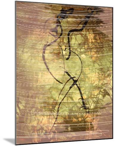 Abstract Image in Green, Yellow, and Black-Daniel Root-Mounted Giclee Print