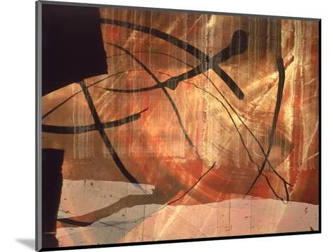 Abstract Image in Red and Black-Daniel Root-Mounted Giclee Print
