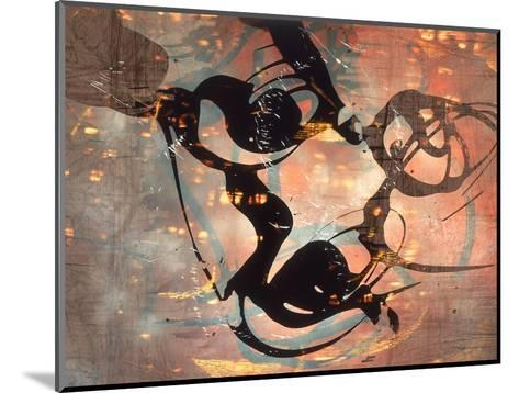 Abstract Image in Brown and Black-Daniel Root-Mounted Giclee Print