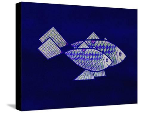 Two Blue and Green Happy Fish-Rich LaPenna-Stretched Canvas Print
