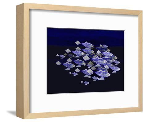 Blue School of Fish-Rich LaPenna-Framed Art Print