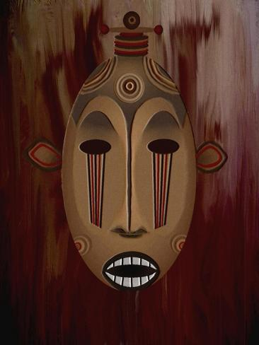 Ceremonial Mask-Rich LaPenna-Stretched Canvas Print