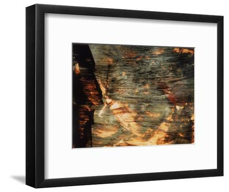 Abstract Image in Green and Yellow-Daniel Root-Framed Art Print