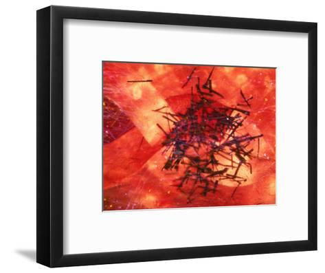 Abstract Image in Red and Black-Daniel Root-Framed Art Print