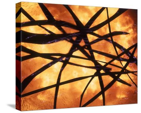 Abstract Image in Yellow and Black-Daniel Root-Stretched Canvas Print