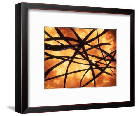 Abstract Image in Yellow and Black-Daniel Root-Framed Art Print
