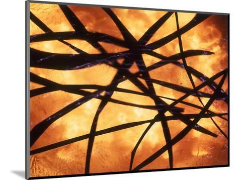 Abstract Image in Yellow and Black-Daniel Root-Mounted Giclee Print