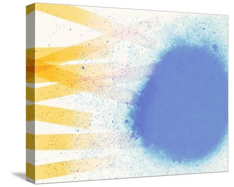 Abstract Image in Blue, White, and Yellow-Daniel Root-Stretched Canvas Print