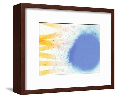 Abstract Image in Blue, White, and Yellow-Daniel Root-Framed Art Print