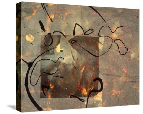 Abstract Image in Green, Brown, and Black-Daniel Root-Stretched Canvas Print