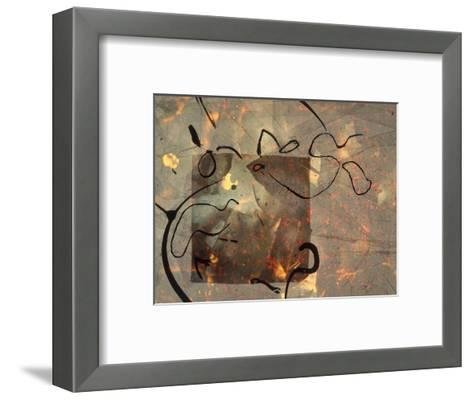 Abstract Image in Green, Brown, and Black-Daniel Root-Framed Art Print