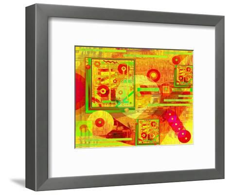Abstract of Circles and Beads-Rich LaPenna-Framed Art Print