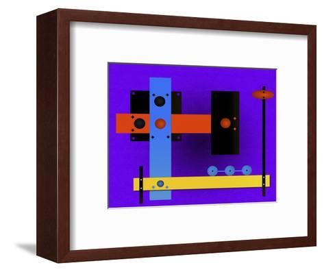 Multi-Coloured Abstract Cubist-Rich LaPenna-Framed Art Print