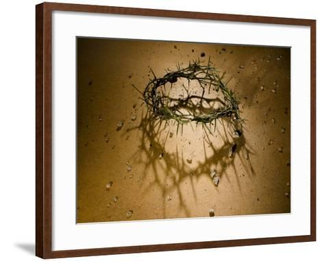Crown of Thorns with Large Shadow and Pieces of Rock-Joshua Hultquist-Framed Art Print