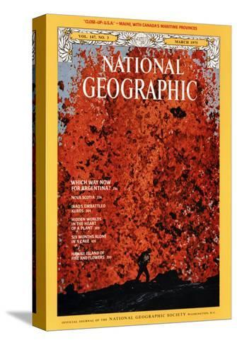 Cover of the March, 1975 National Geographic Magazine-Robert Madden-Stretched Canvas Print