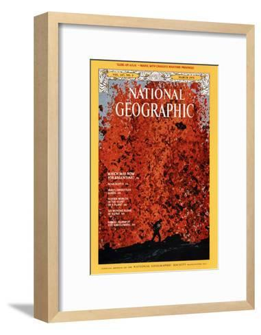 Cover of the March, 1975 National Geographic Magazine-Robert Madden-Framed Art Print