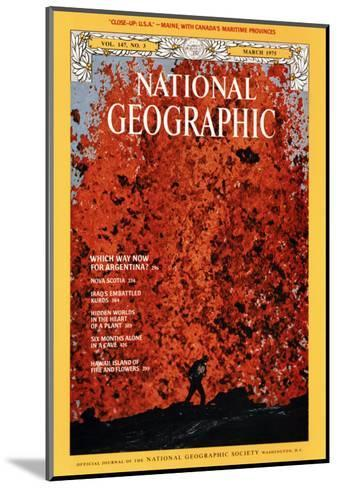 Cover of the March, 1975 National Geographic Magazine-Robert Madden-Mounted Photographic Print