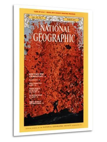 Cover of the March, 1975 National Geographic Magazine-Robert Madden-Metal Print