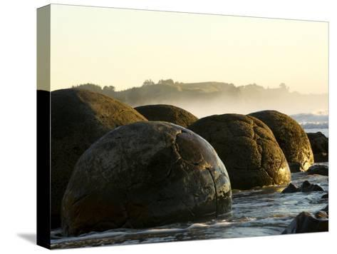 4.5 Million Year Old Moeraki Boulders at Sunrise-Bill Hatcher-Stretched Canvas Print