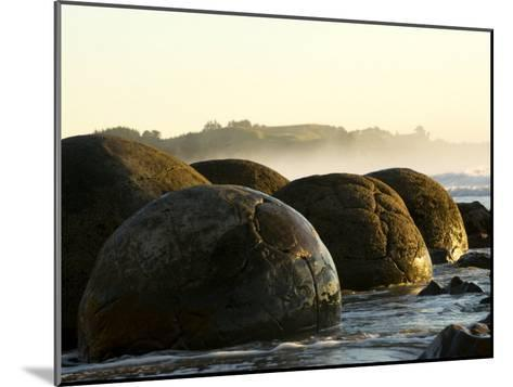 4.5 Million Year Old Moeraki Boulders at Sunrise-Bill Hatcher-Mounted Photographic Print