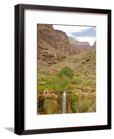 Waterfall Flows Through a Desert-David Edwards-Framed Art Print