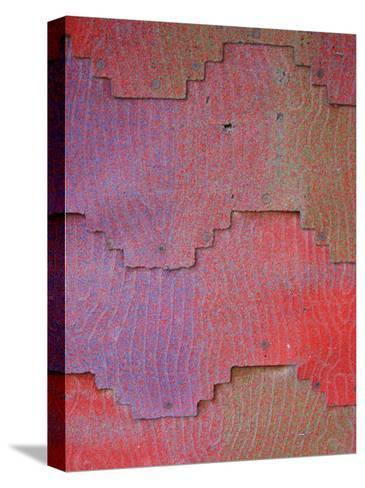 Close View of Shingles on a Wall-David Edwards-Stretched Canvas Print