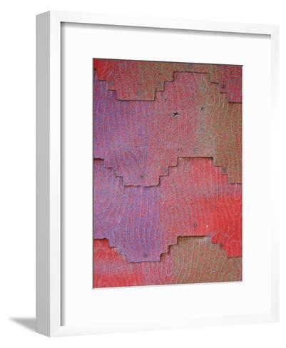 Close View of Shingles on a Wall-David Edwards-Framed Art Print