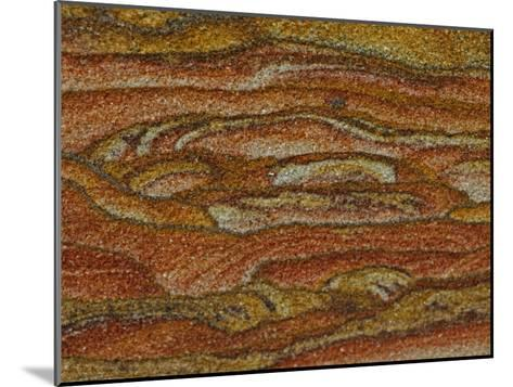 Close-up Detail of Iron Oxide Patterns in Sandstone-John Cancalosi-Mounted Photographic Print