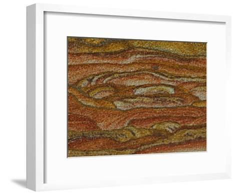 Close-up Detail of Iron Oxide Patterns in Sandstone-John Cancalosi-Framed Art Print