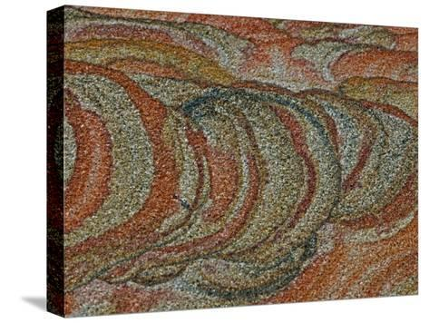 Close-up Detail of Iron Oxide Patterns in Sandstone-John Cancalosi-Stretched Canvas Print