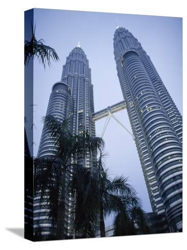 Petronas Towers, the Tallest Twin Towers in the World-xPacifica-Stretched Canvas Print