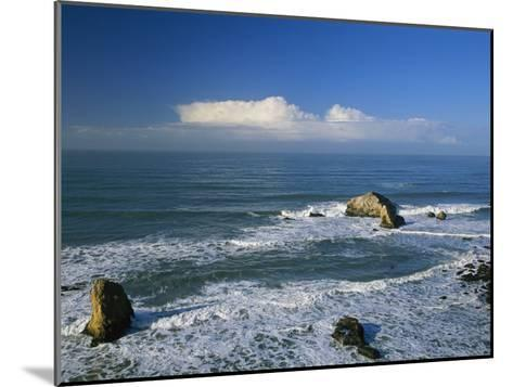 Clouds over the Pacific Ocean and Surf Spilling onto Shell Beach-Marc Moritsch-Mounted Photographic Print