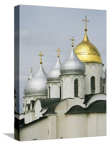Domes of the Cathedral of St. Sophia-Martin Gray-Stretched Canvas Print