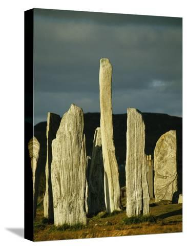 Standing Stones of Callanish at Sunset-Martin Gray-Stretched Canvas Print