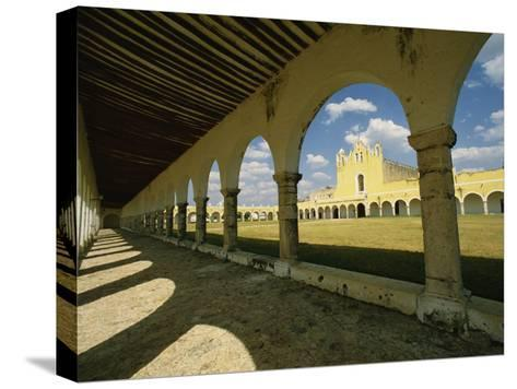Courtyard of the Great Monastery of Izamal-Martin Gray-Stretched Canvas Print
