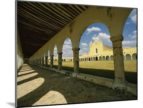Courtyard of the Great Monastery of Izamal-Martin Gray-Mounted Photographic Print