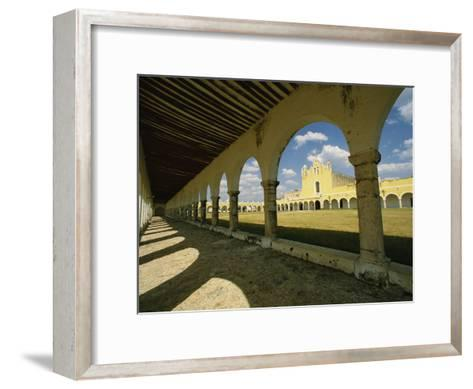 Courtyard of the Great Monastery of Izamal-Martin Gray-Framed Art Print