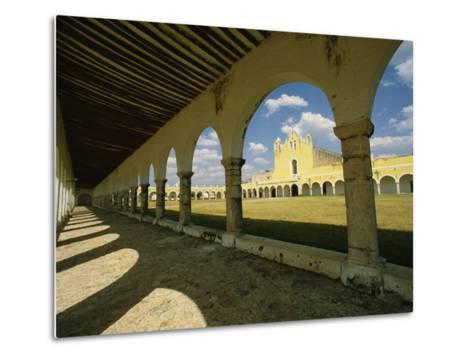 Courtyard of the Great Monastery of Izamal-Martin Gray-Metal Print