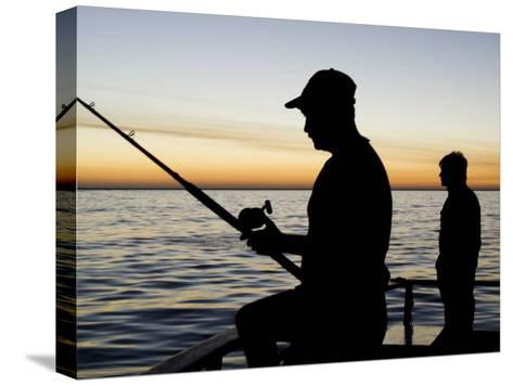 Fishing for Yellowfin Tuna from a Boat in Pre Dawn Light-Mauricio Handler-Stretched Canvas Print