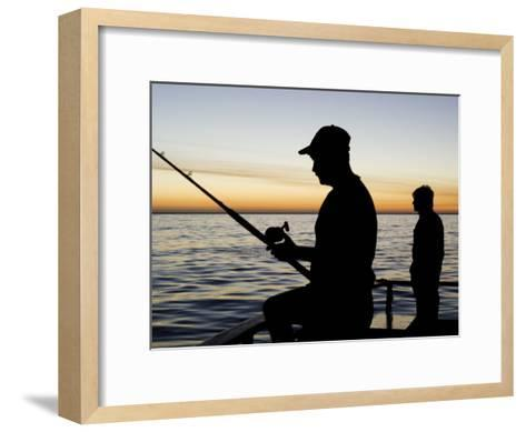 Fishing for Yellowfin Tuna from a Boat in Pre Dawn Light-Mauricio Handler-Framed Art Print