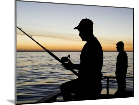 Fishing for Yellowfin Tuna from a Boat in Pre Dawn Light-Mauricio Handler-Mounted Photographic Print