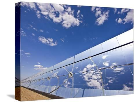 Parobolic Mirrors at a Solar Thermal Plant are Used to Heat Oil-Michael Melford-Stretched Canvas Print