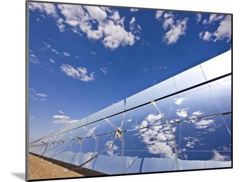 Parobolic Mirrors at a Solar Thermal Plant are Used to Heat Oil-Michael Melford-Mounted Photographic Print