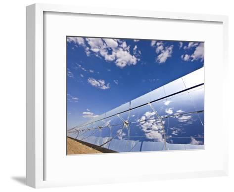 Parobolic Mirrors at a Solar Thermal Plant are Used to Heat Oil-Michael Melford-Framed Art Print